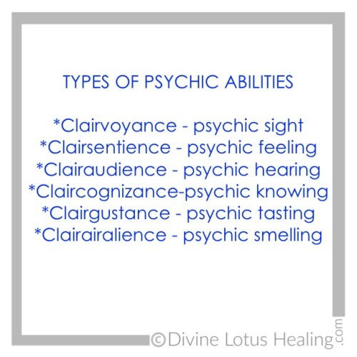 Divine Lotus Healing | Types of Psychic Abilities