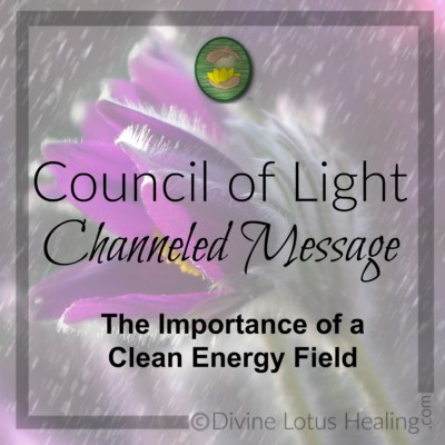 Divine Lotus Healing Council of Light Channeled Message The Importance of Clean Energy Field