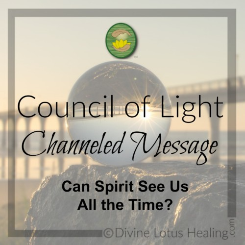 Divine Lotus Healing Council of Light Channeled Message Can Spirit See Us All the Time