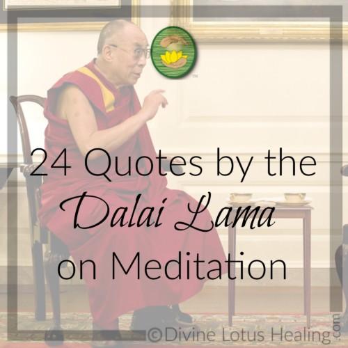 Divine Lotus Healing | 24 Quotes by the Dalai Lama on Meditation