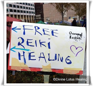 Divine Lotus Healing   Reiki at Occupy Boston