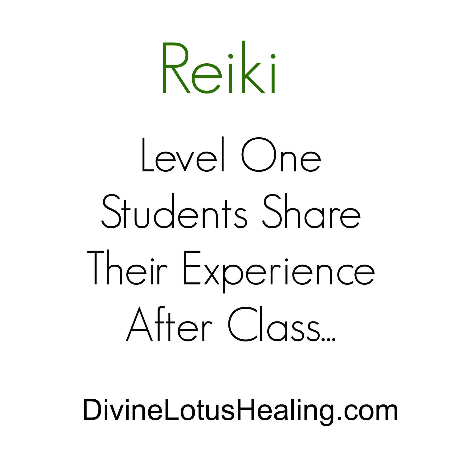 Divine Lotus Healing | Reiki Level One Students Share Their Experience After Class