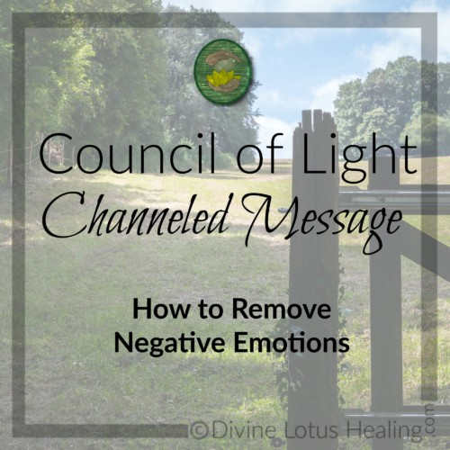 Divine Lotus Healing Council of Light Channeled Message How to Remove Negative Emotions