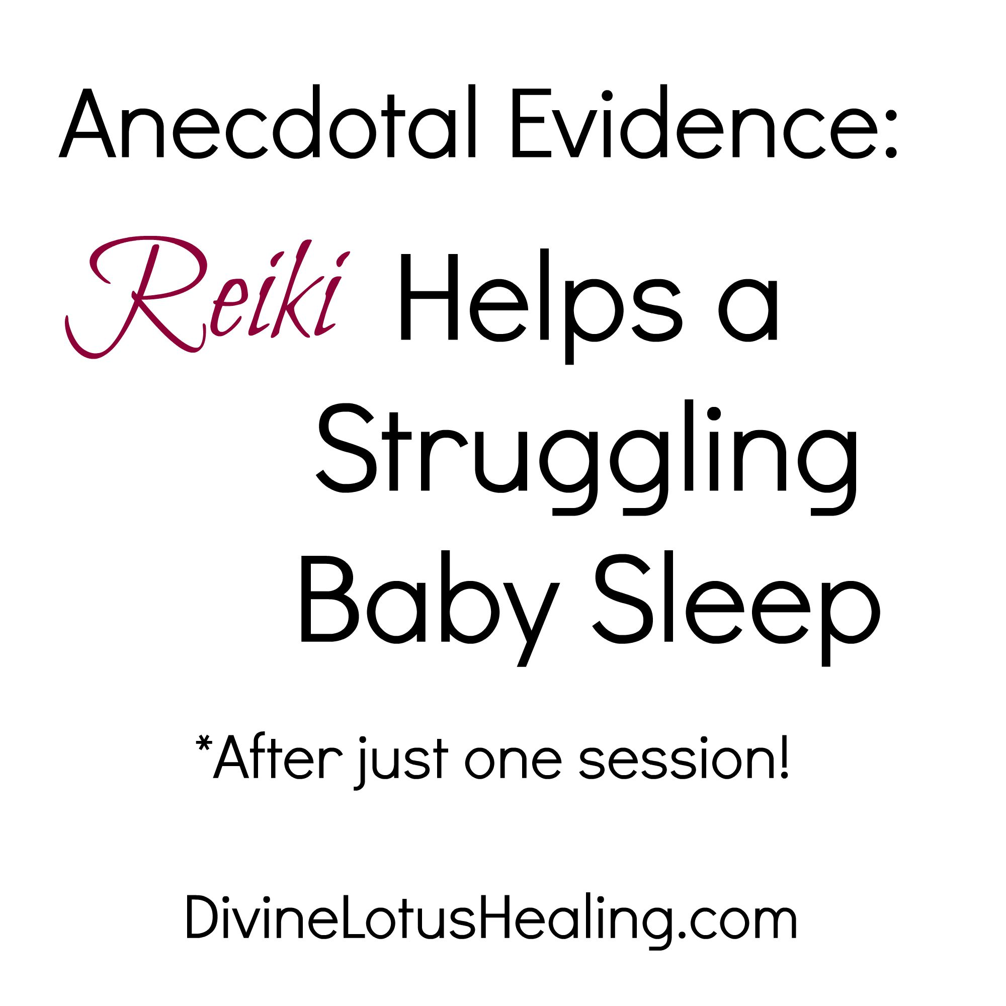 Divine Lotus Healing Reiki Helps a Struggling Baby Sleep