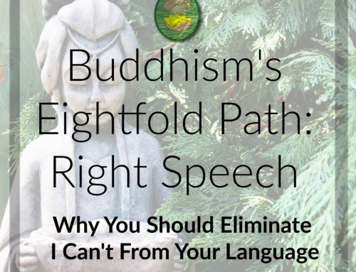 Buddhism's Eightfold Path, Right Speech: Eliminating I Can't