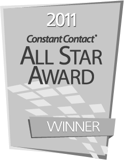Constant Contact 2011 All Star Award Winner