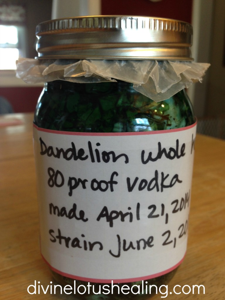 dandelion labeled