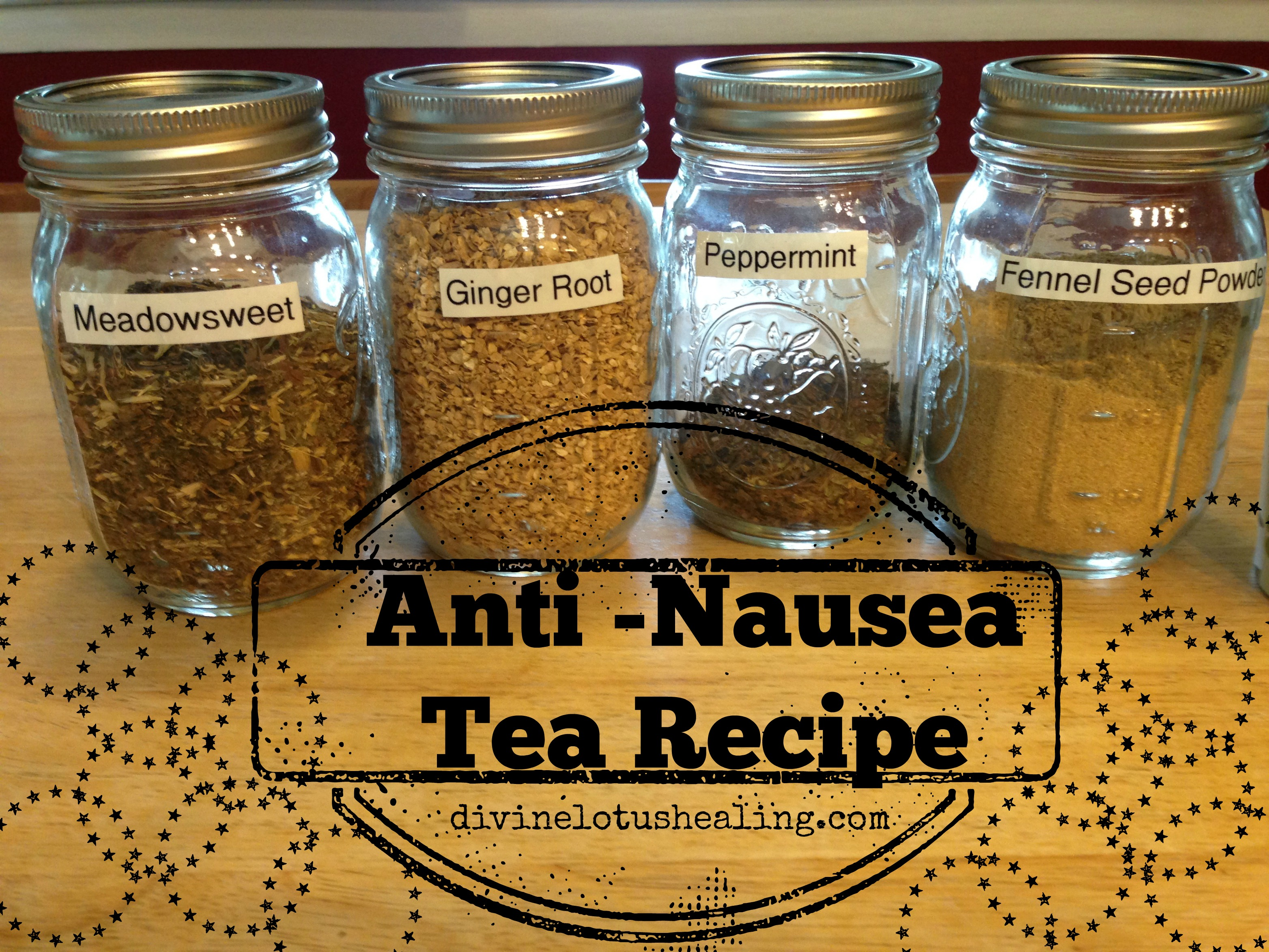 anti nausea tea recipe divine lotus healing