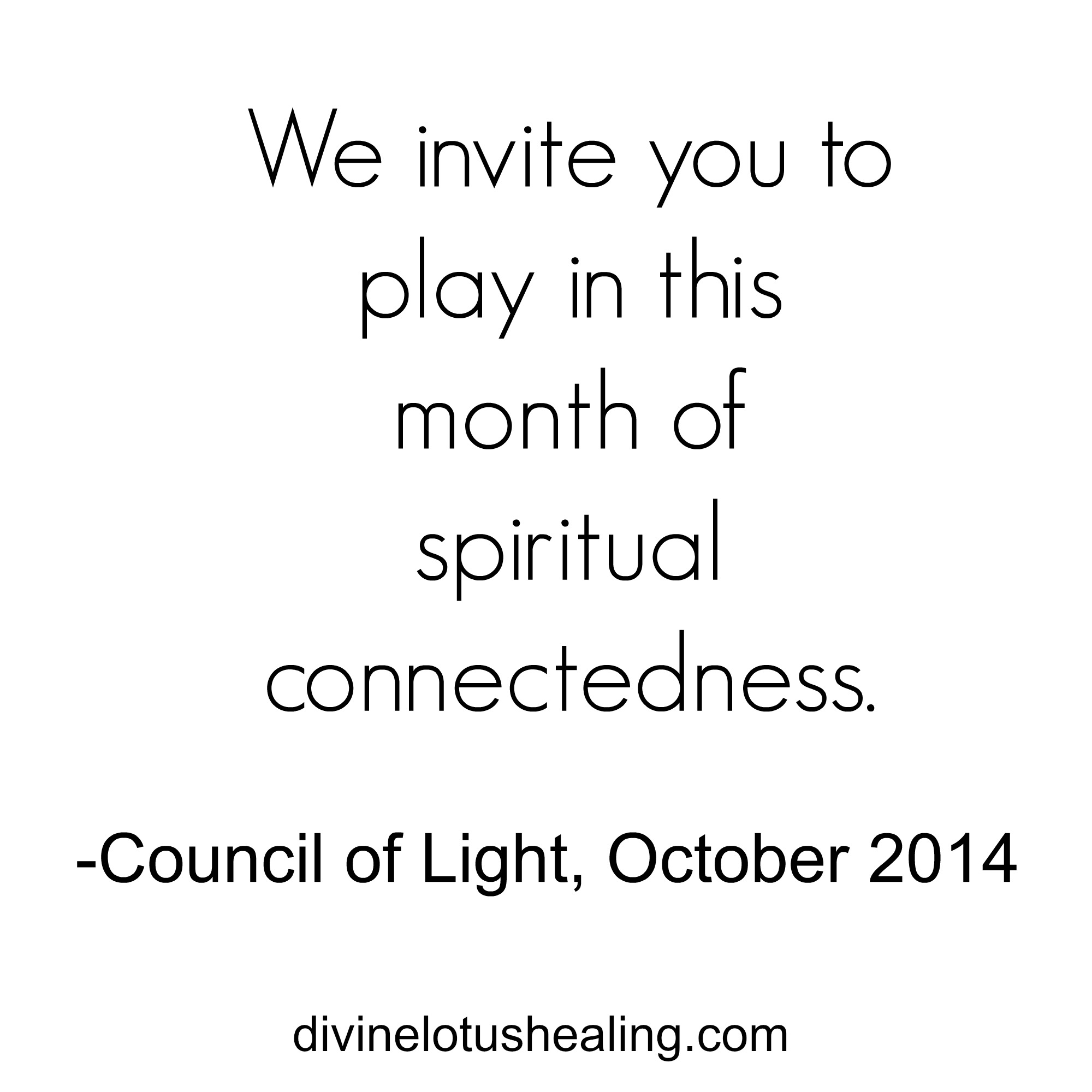 Council of Light October 2014 Channeled Message