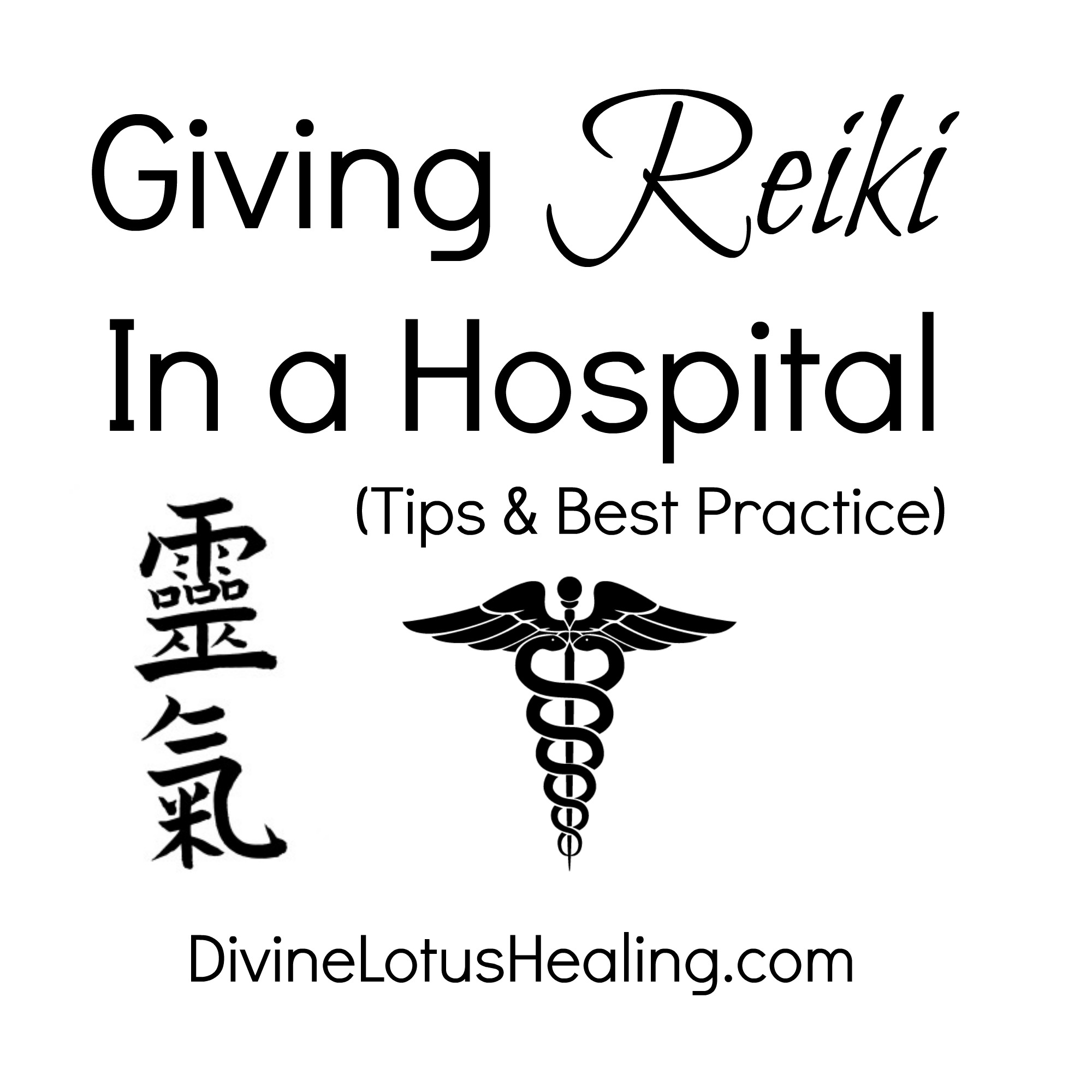 Divine Lotus Healing Giving Reiki in a Hospital