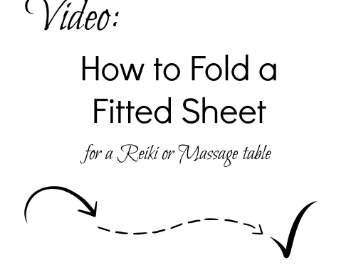How to Fold a Fitted Sheet for Your Reiki Table