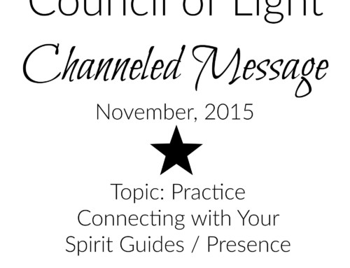 Council of Light November 2015 Channeled Message