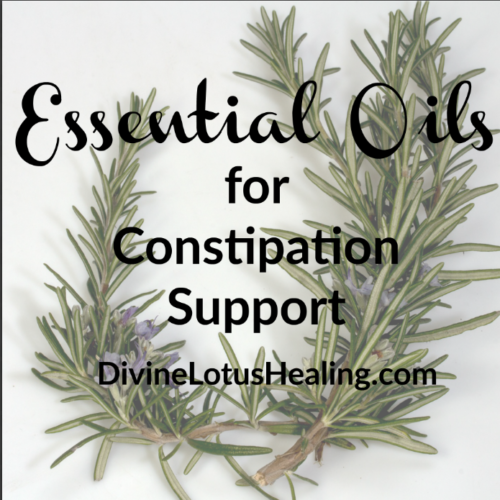 Divine Lotus Healing Essential Oils for Constipation Support