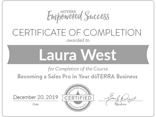 doTERRA Certified Sales Pro Certification